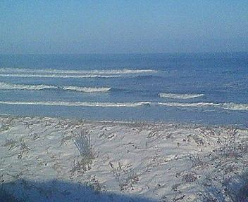 車窓から見えるオホーツク海